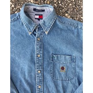 Vintage 90's Tommy Hilfiger Denim Button Up Shirt
